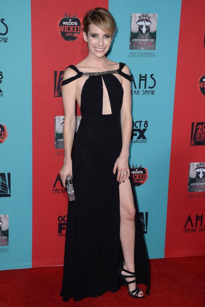 La robe fendue d'Emma Roberts