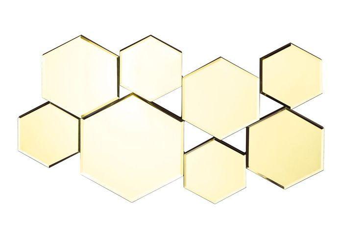 un miroir hexagonal or no l plus de 100 cadeaux design elle. Black Bedroom Furniture Sets. Home Design Ideas