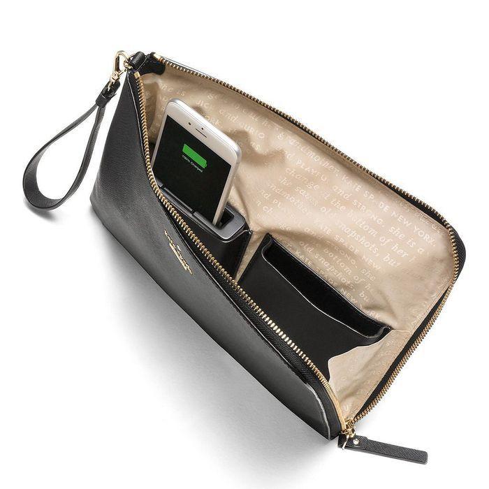 Pochette avec chargeur  smartphone intégré