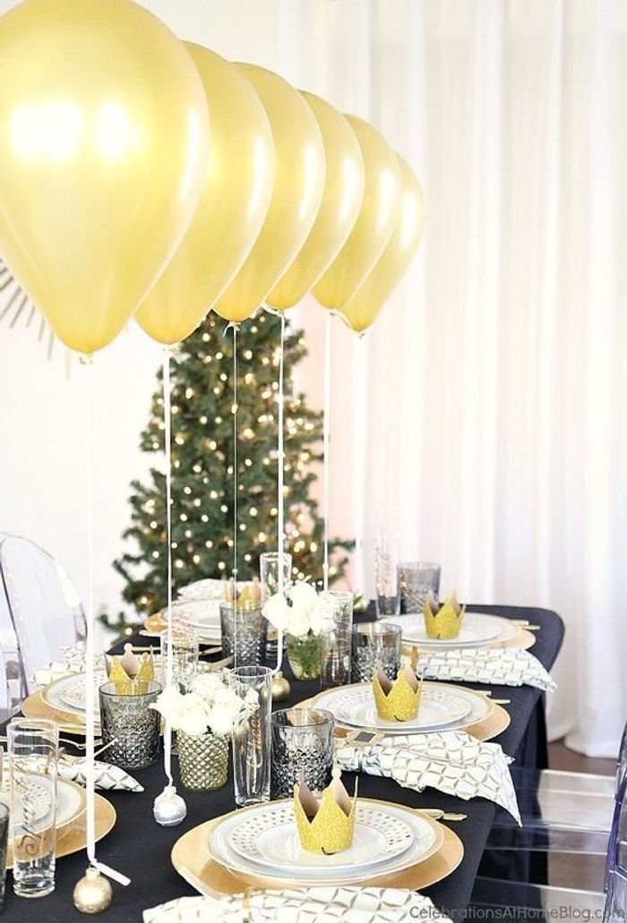 Les plus jolies tables de f te pour un r veillon r ussi elle for Table 20 personnes