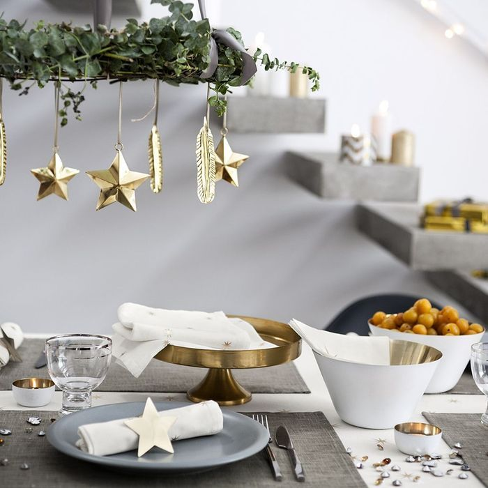 Table de no l nos 43 id es d co elle for Idee deco table noel