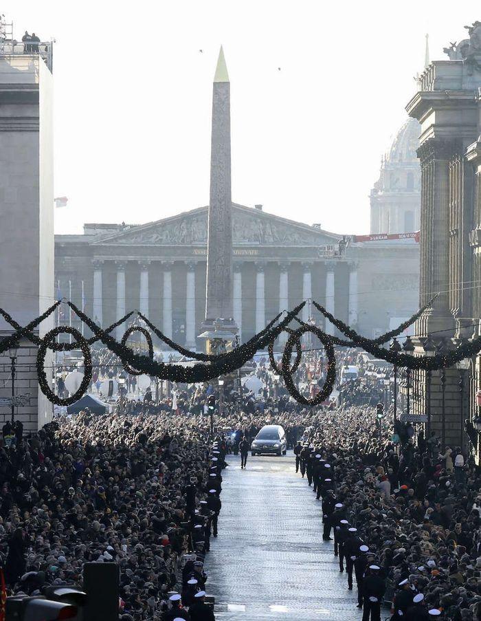 L'arrivée du convoi funéraire