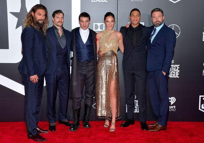 Amber Heard au côté de Ben Affleck pour l'avant-première de Justice League