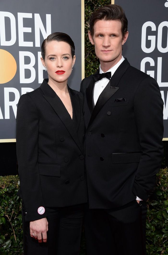 Claire Foy en Stella McCartney et Matt Smith