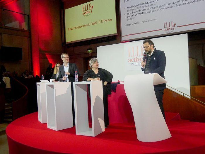 David Abiker, Dominique Méda,  Jean-Edouard Grésy et Armelle Carminati-Rabasse