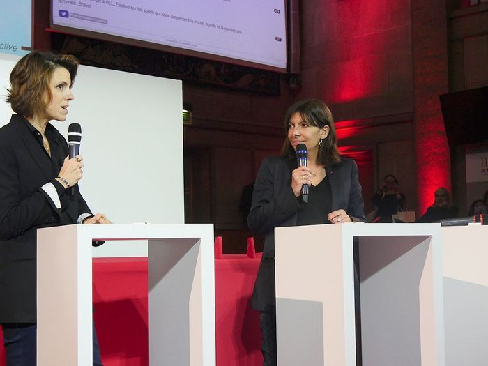 Françoise-Marie Santucci et Anne Hidalgo