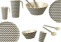 L'objet déco du jour : une vaisselle écolo en fibres de bambou