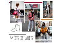 Street style : les bottines blanches envahissent la rue