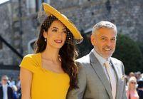 Mariage de Meghan et Harry : Amal, en robe jaune et chapeau et George Clooney parmi les invités