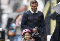 Pause tendresse pour David Beckham et sa fille Harper