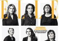 Violences conjugales : des femmes rescapées en couverture de ELLE