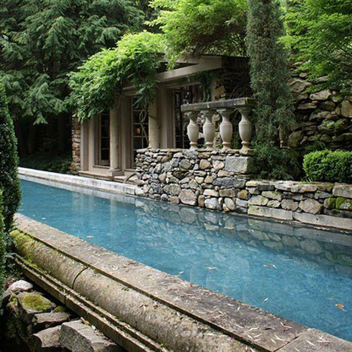 Les piscines de r ve de notre t sur pinterest elle for Deco piscine espagne