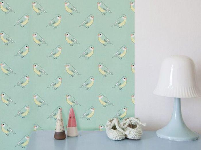 Du papier peint à motif pour une chambre de bébé vintage