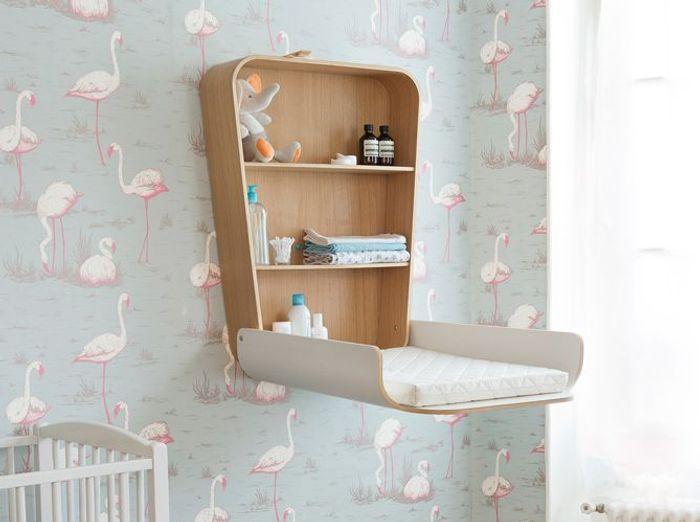 Une table à langer originale pour une chambre de bébé vintage