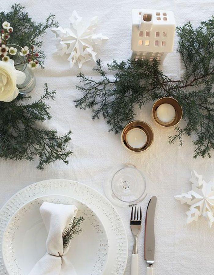 Décoration de table hiver : faîtes confiance au blanc