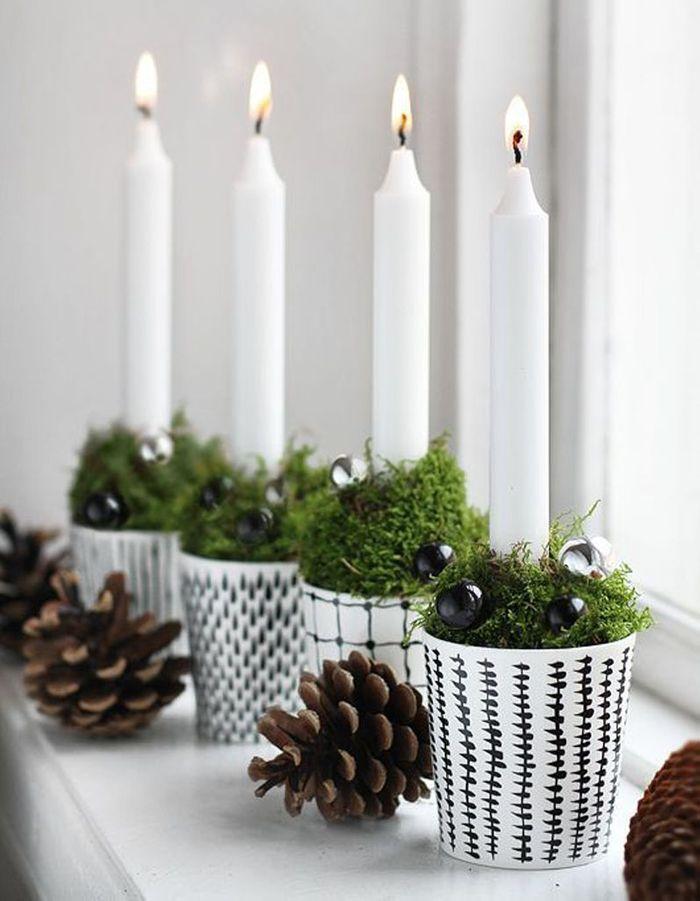 Décoration de table hiver : pimpez des verres blancs en les parant de motifs