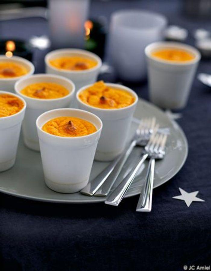 Mini-soufflés carotte et potimarron