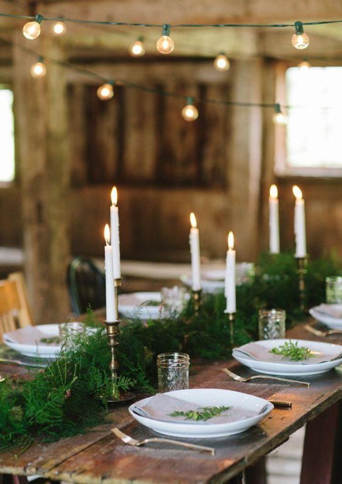 Une table de fête élégante